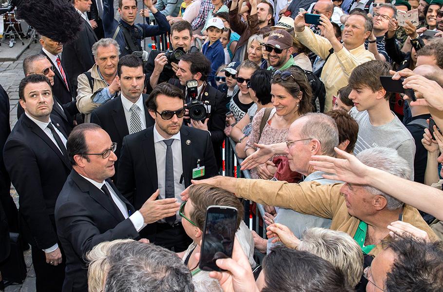 Fotograf Bern, François Hollande und Simonetta Sommargua, von Thomas Hodel