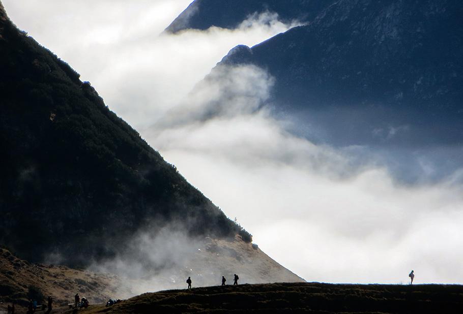 Nebelmeer, Berge, Herbst