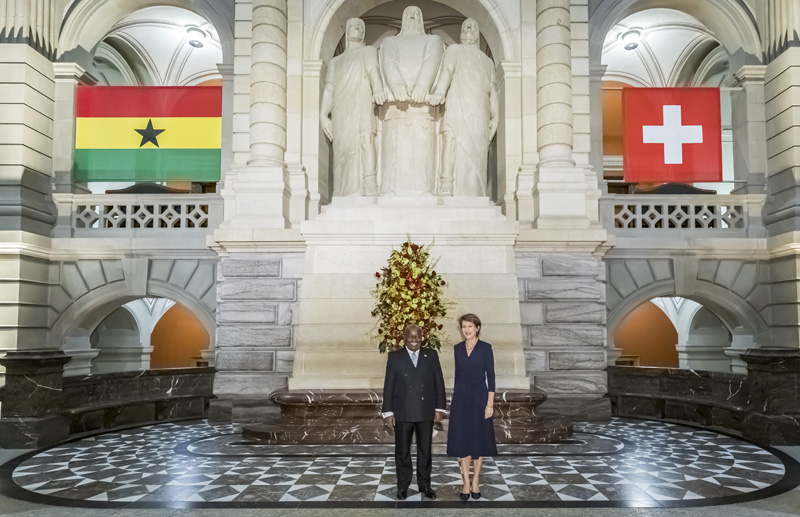 Fotograf Bern, Staatsempfang Ghana